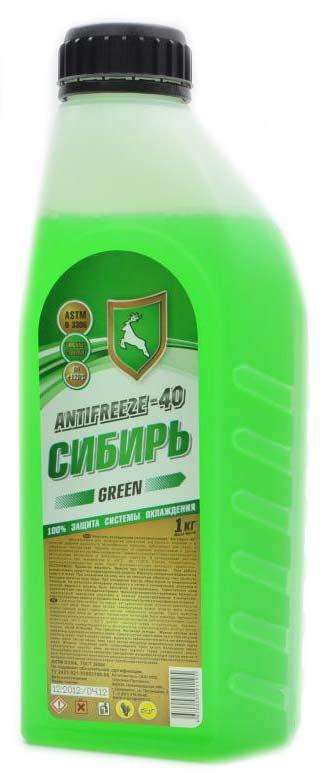 Антифриз -40 Сибирь зеленый 1кг