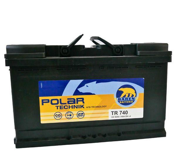 Baterie auto BAREN (AFB Polar Technik) 80Ah E