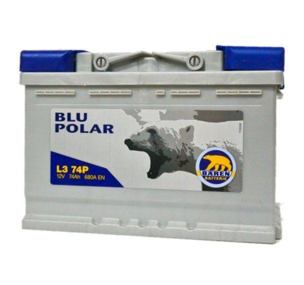 Baterie auto BAREN (Blu polar) 74Аh E