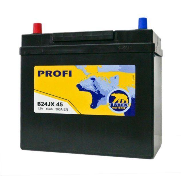 Baterie auto BAREN (Profi) 45Аh E (terminale mici)