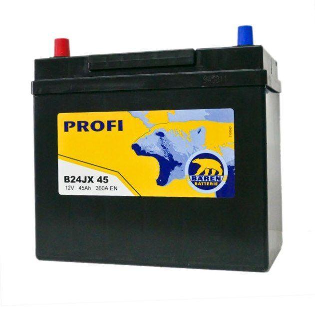Baterie auto BAREN (Profi) 45Аh (terminale mici)
