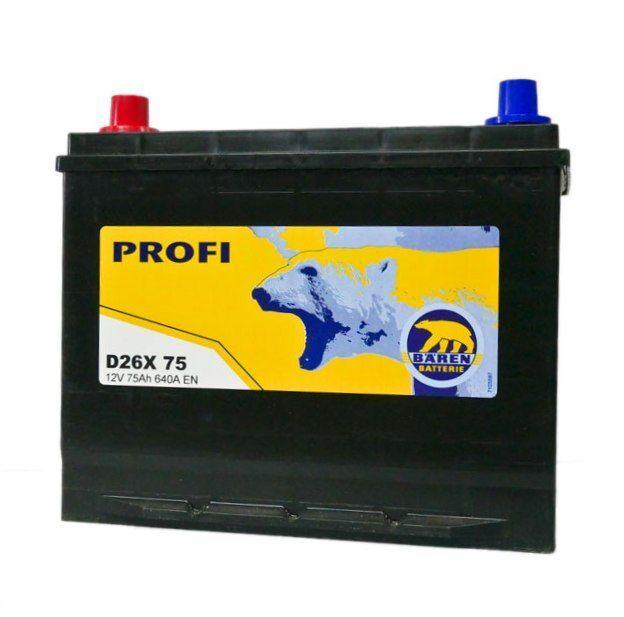 Baterie auto BAREN (Profi) 75Аh
