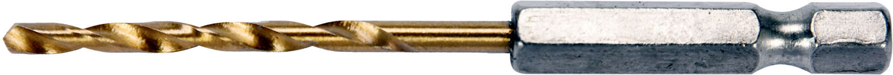 Burghiu HSS-TiN 3.0mm (1/4 HEX)