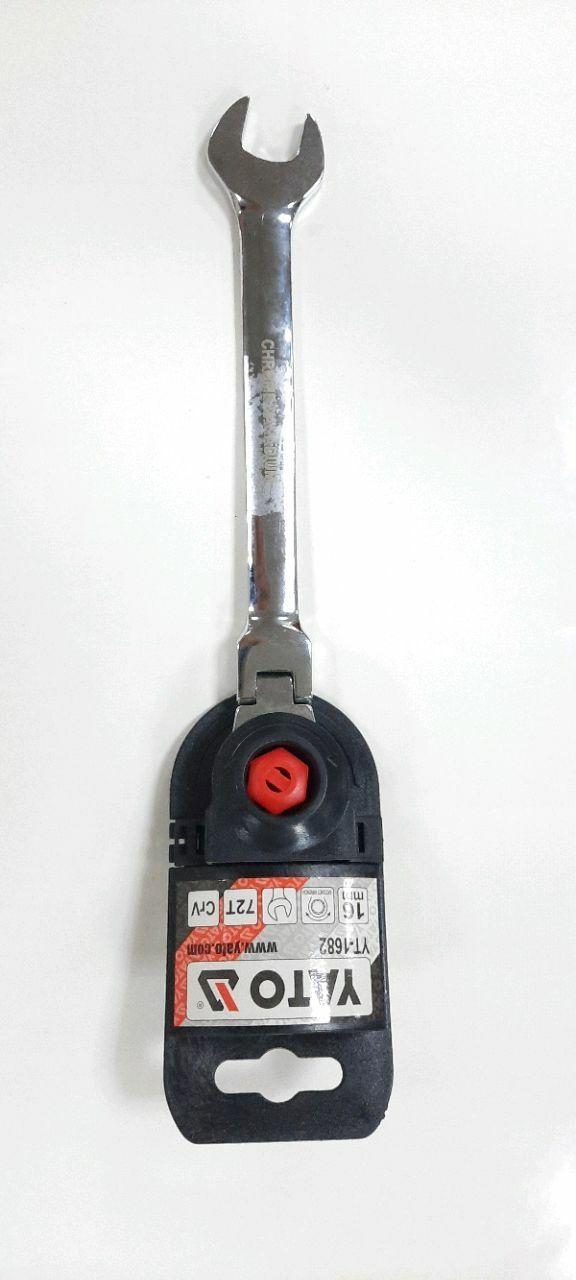 Cheie combinată clichet/articulație 16mm