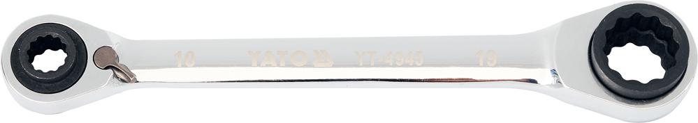 Cheie inelară cu clichet 10x13/17x19