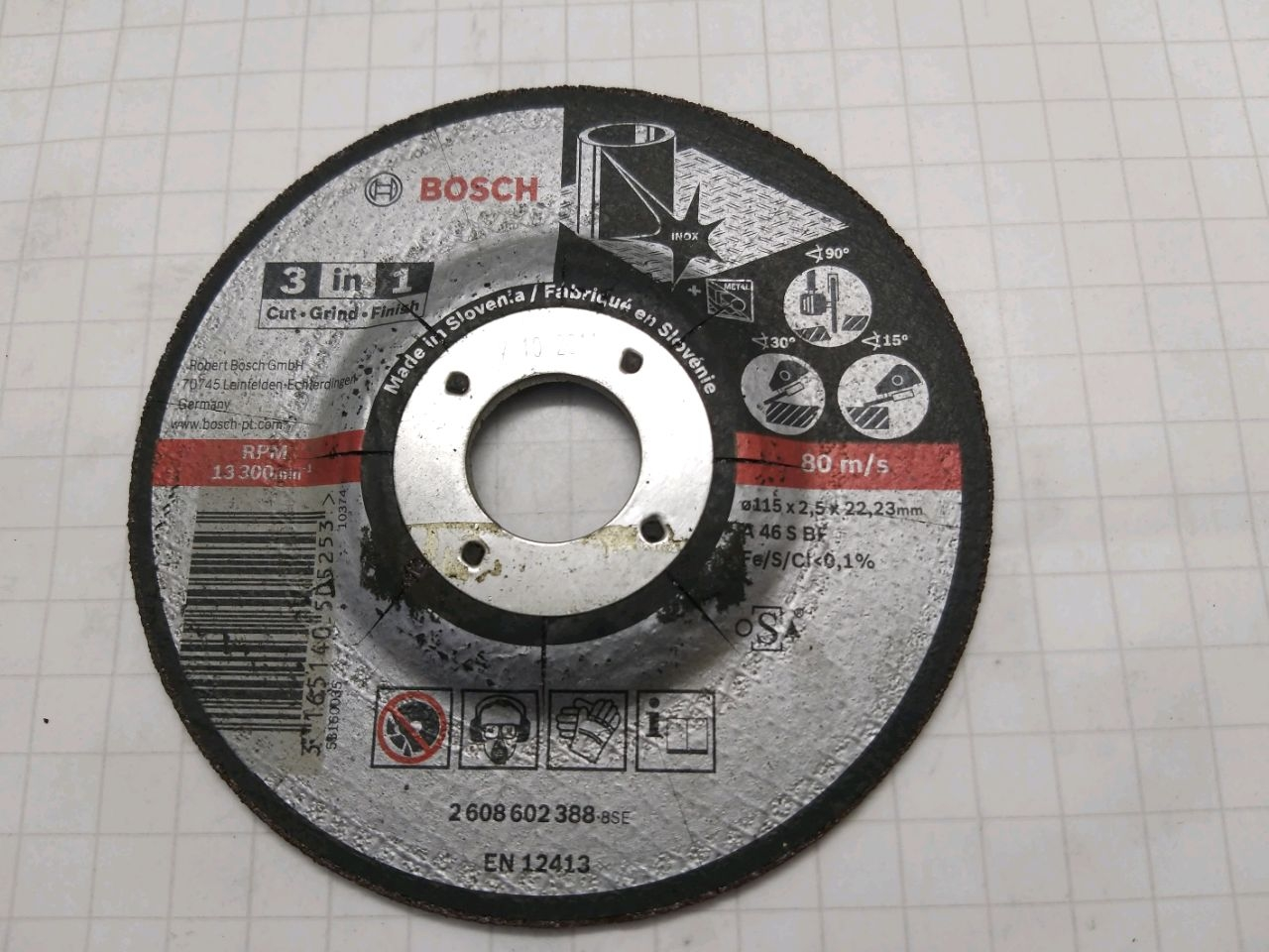 DISC 3 in 1, 115 mm