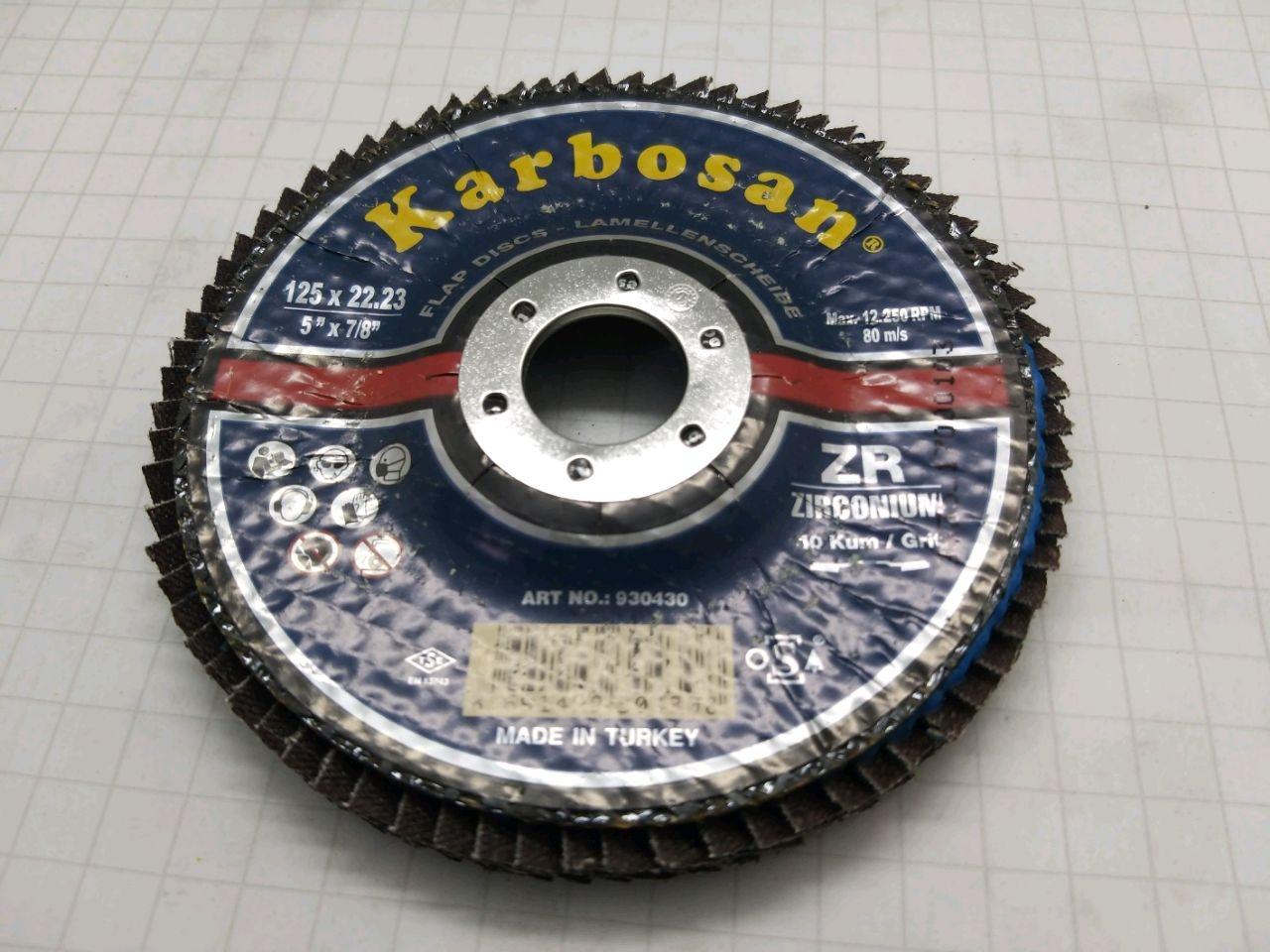 Disc abraziv 125x22 ZR40