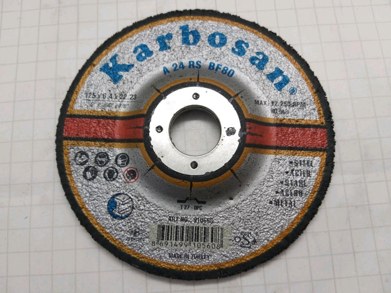 Disc de tăiat 125х6,0х22 Karbosan