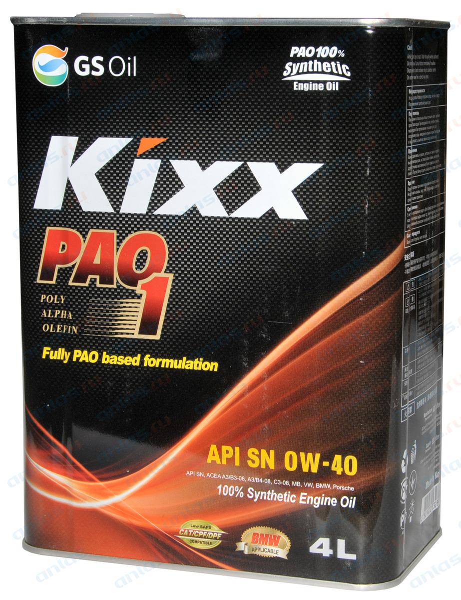 Kixx PAO 1  0w-40 4L.