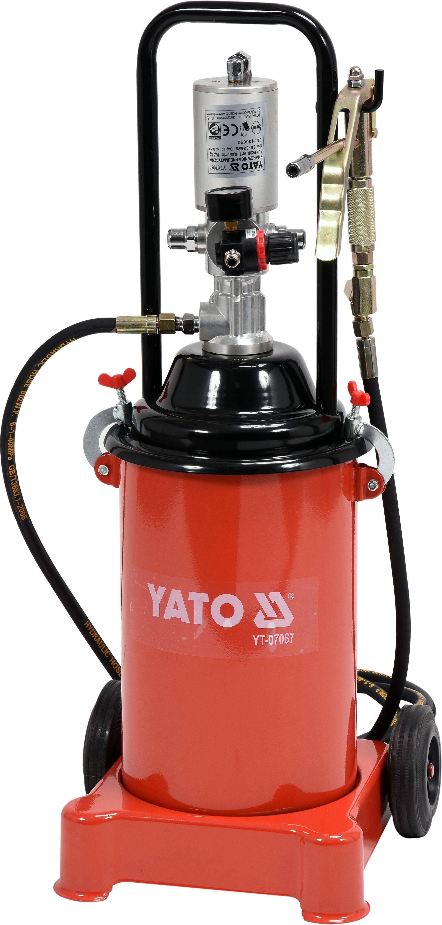 Pompă pneumatică p/u lubrifiaţi 300-400bar 12L
