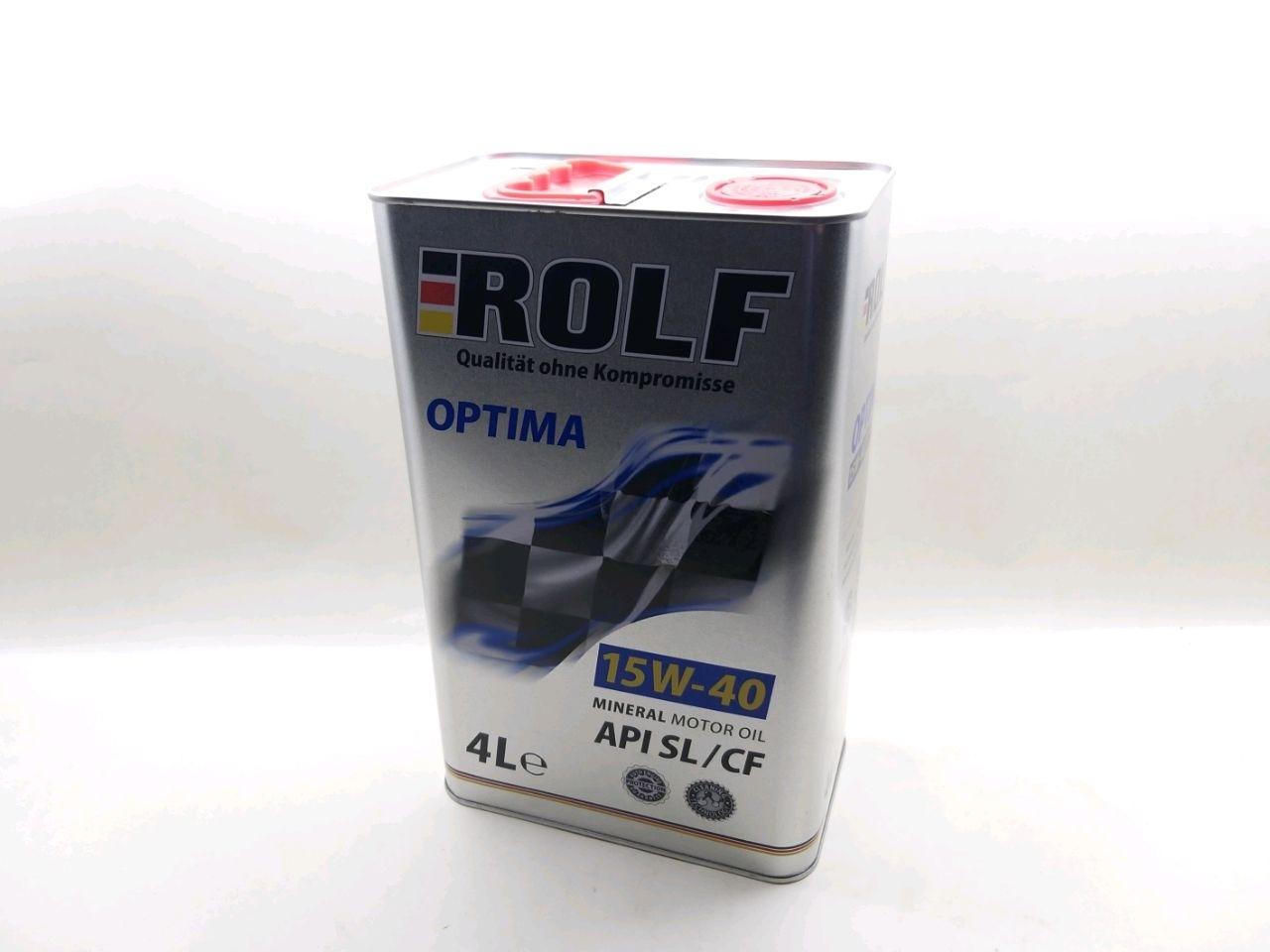 ROLF  Optima SAE 15W-40 API SL/CF mineral  4л