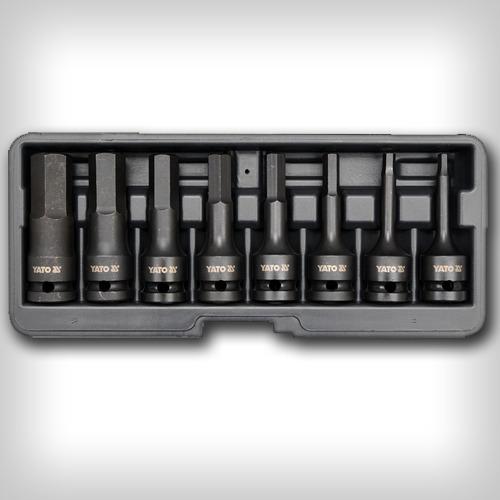 Set bituri de impact HEX 6-19mm 1/2 8buc