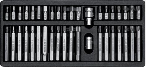 Set bituri în cutie metalică 40buc