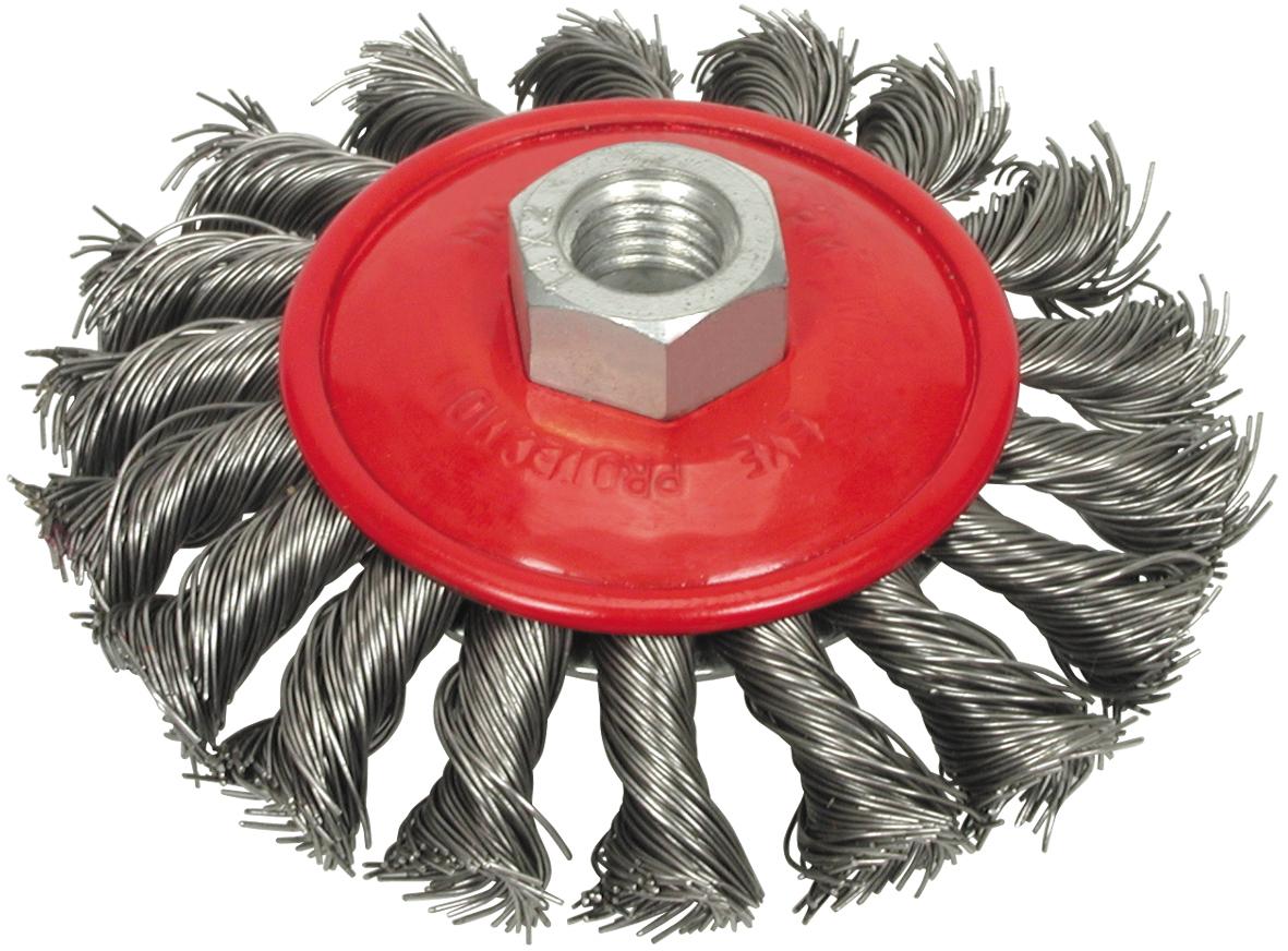 Щетка проволочная плетенная диск 100мм