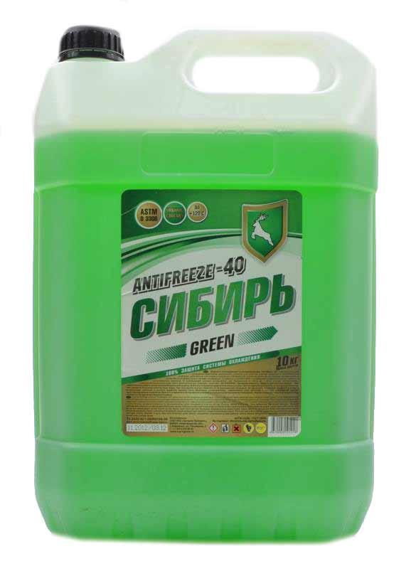 Sibiri Antifreeze -40  verde 10 kg