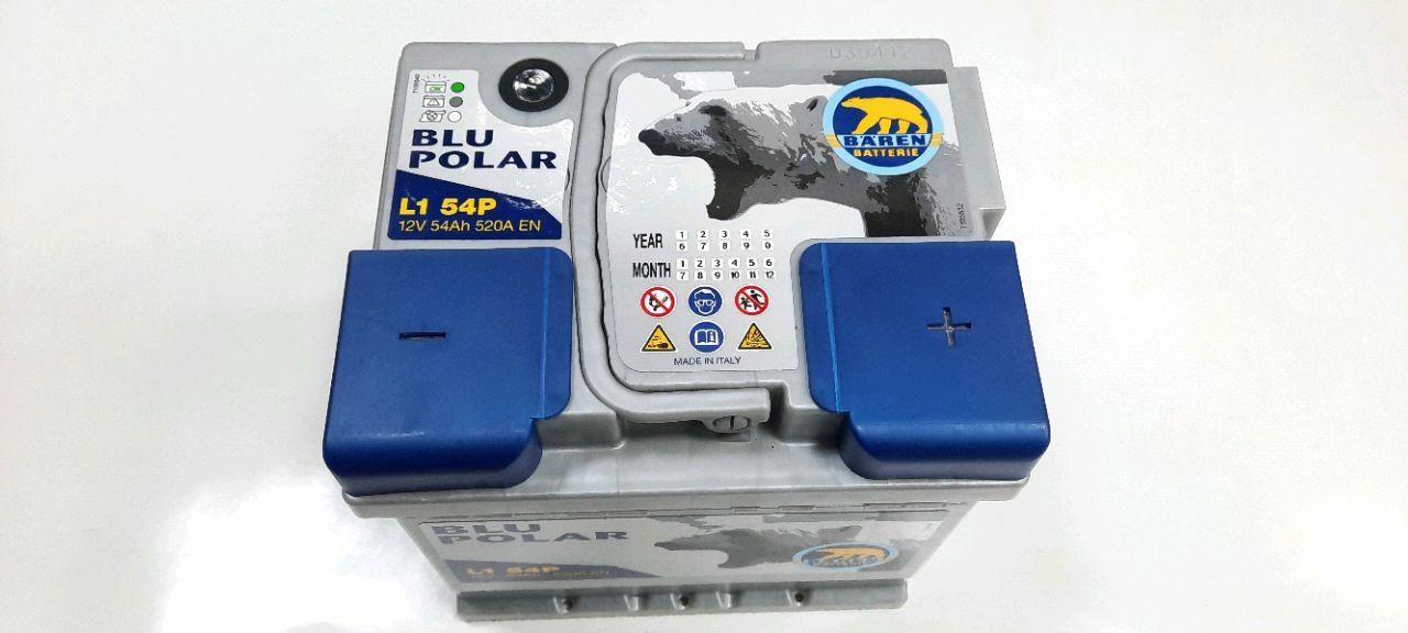 Baterie auto BAREN (Blu polar) 54Аh E