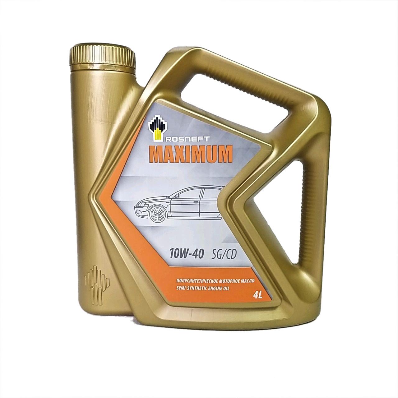 Rosneft Maximum 10w-40 (SG/CD) 4L.