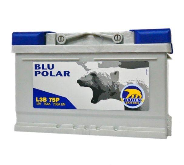 Baterie auto BAREN (Blu polar) 75Аh E