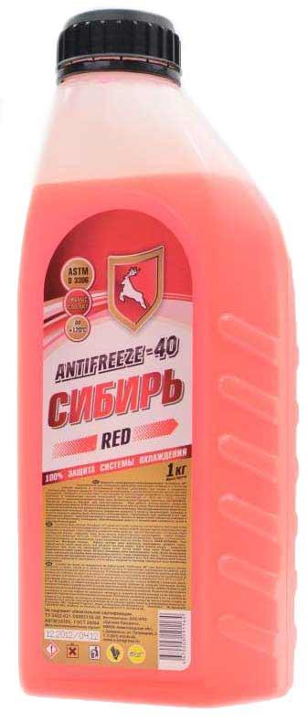(191164)Sibiri Antifreeze  -40  rosu 1 kg